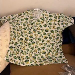 St Patrick's Day Theme scrubs top